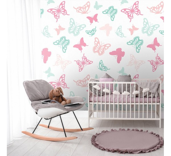 Pastel Butterfly Removable Wallpaper