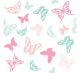 Pastel Butterfly Removable Wallpaper pattern