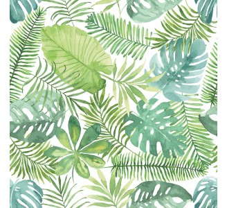 Watercolor Palm Leaves Removable Wallpaper pattern