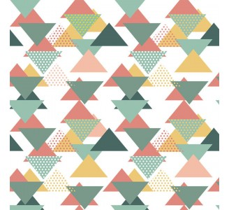 Colored Triangles Removable Wallpaper pattern