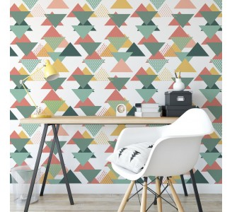 Colored Triangles Removable Wallpaper