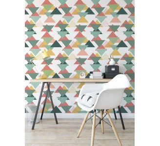 Colored Triangles Removable Wallpaper full view