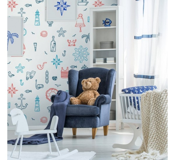 Tropical Marine Removable Wallpaper