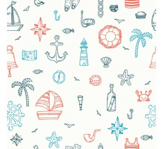 Tropical Marine Removable Wallpaper pattern