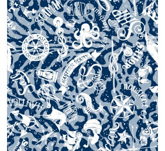 Blue Nautical Theme Removable Wallpaper pattern