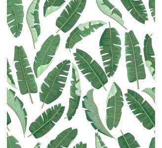 Green Banana Leaves Removable Wallpaper pattern