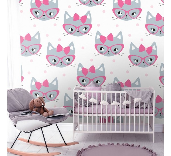 Lovely Kitty Removable Wallpaper