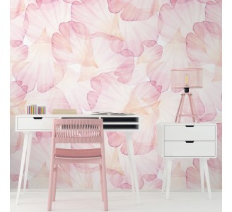 Pink Rose Petals Removable Wallpaper