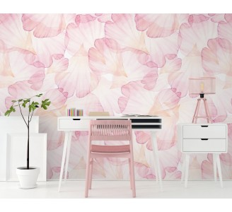 Pink Rose Petals Removable Wallpaper full view