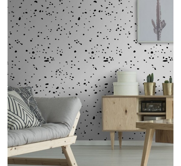 Black Splashes Removable Wallpaper