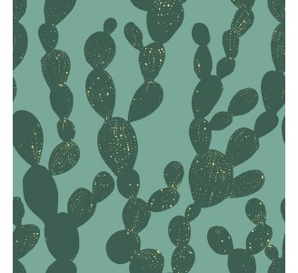 Seamless Green Cactus Removable Wallpaper pattern
