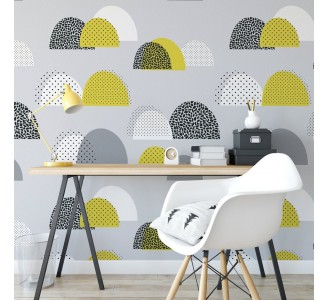 Seamless Shapes Removable Wallpaper