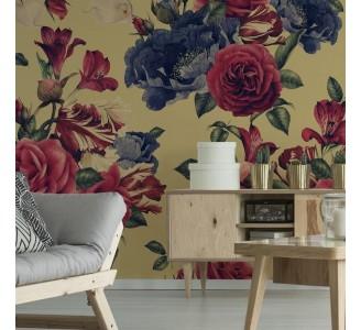 Watercolor Garden Roses Removable Wallpaper