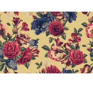Watercolor Garden Roses Removable Wallpaper pattern