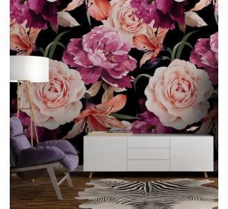 Watercolor Light Pink Roses Removable Wallpaper