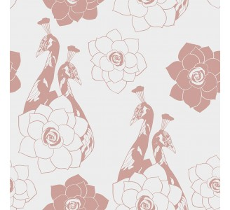 Pink Birds Removable Wallpaper pattern