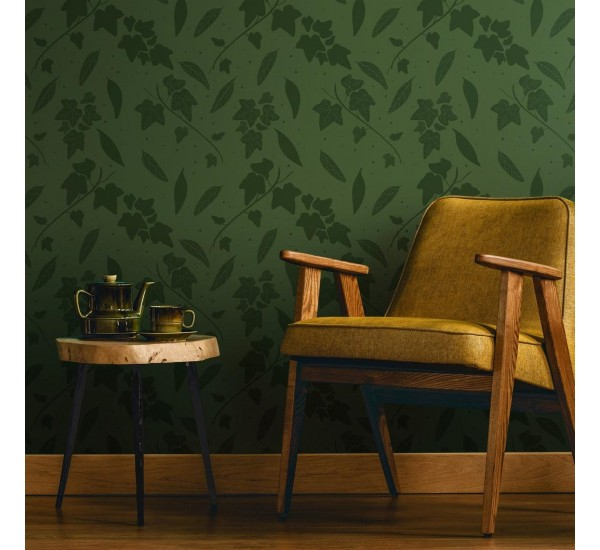 Dark Green Leaves Removable Wallpaper