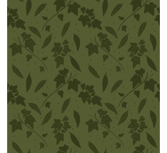 Dark Green Leaves Removable Wallpaper pattern