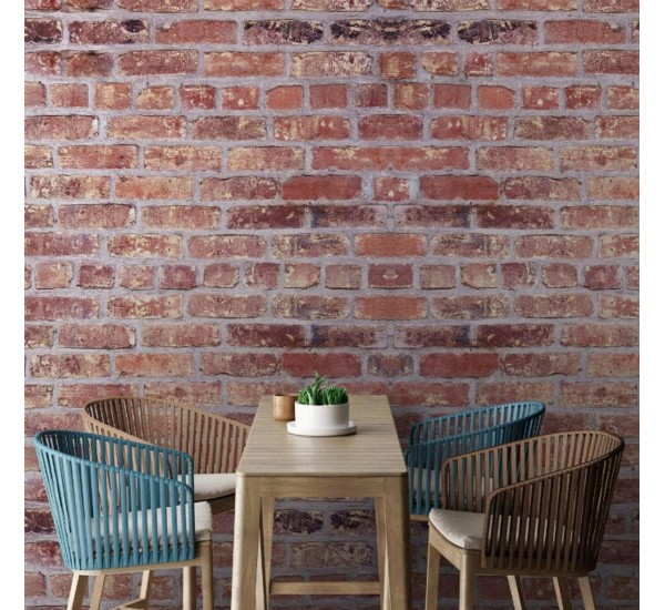 Red Brick Removable Wallpaper