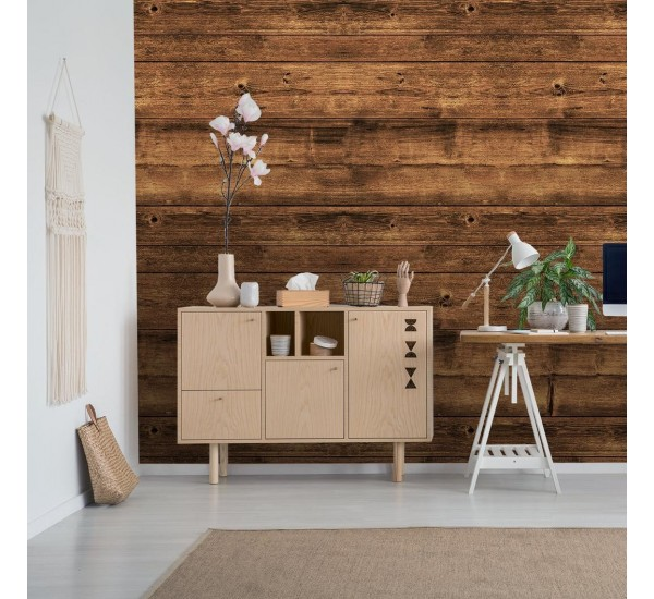 Brown Wood Removable Wallpaper