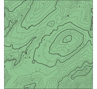 Green Topographic Map Removable Wallpaper pattern
