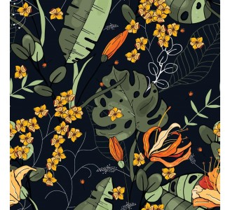 Wild and Exotic Removable Wallpaper pattern