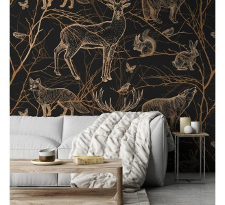 Forest Wildlife Removable Wallpaper