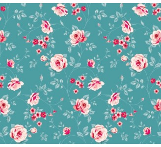 Soft Floral Love Removable Wallpaper pattern