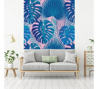 Monstera and Palm Leaves Removable Wallpaper