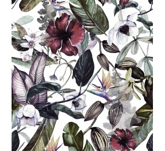 Magnolia Flowers Removable Wallpaper pattern