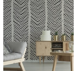 Hand Drawn Lines Removable Wallpaper