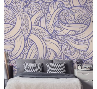 Tangled Tentacles Removable Wallpaper