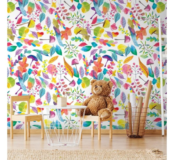 Rainbow Meadow Removable Wallpaper