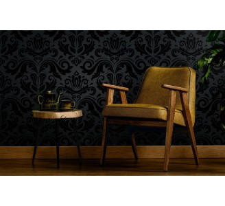 Dark Damask Luxury Removable Wallpaper full view