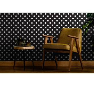 Classic Polka Dots Removable Wallpaper full view