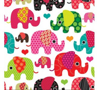 Colorful Elephants Removable Wallpaper pattern