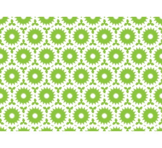 Green Retro Shapes Removable Wallpaper pattern
