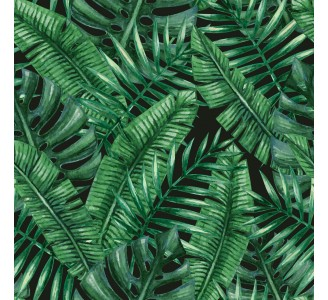 Dark Palm Leaves Removable Wallpaper pattern