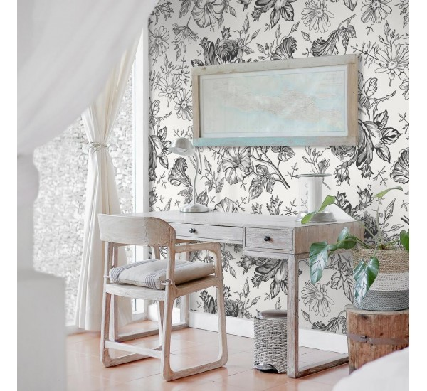 Petunia Flowers Removable Wallpaper