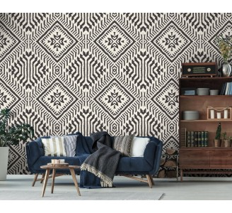 Aztec Ethnic Removable Wallpaper full view