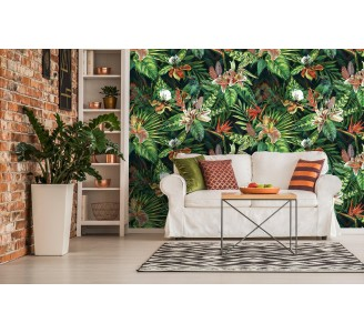 Tropical Jungle Removable Wallpaper full view