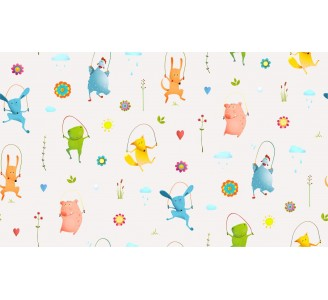 Cartoon Animals Removable Wallpaper pattern