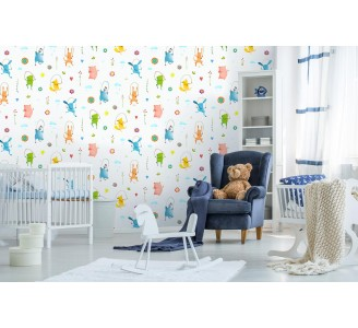 Cartoon Animals Removable Wallpaper full view