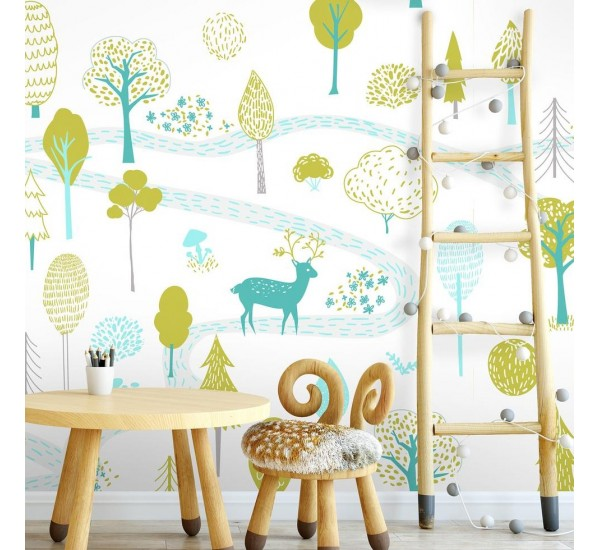 Forest for Kids Removable Wallpaper