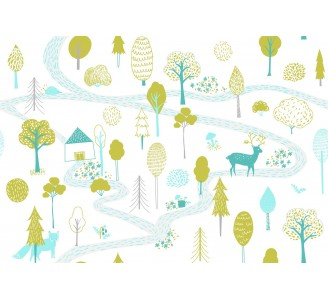 Forest for Kids Removable Wallpaper pattern