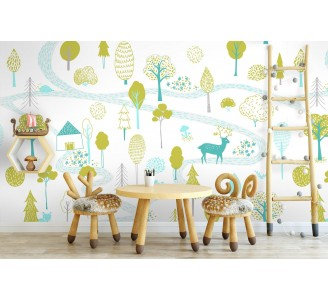 Forest for Kids Removable Wallpaper full view