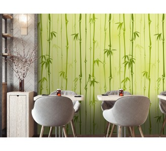 Bamboo Sticks Removable Wallpaper full view
