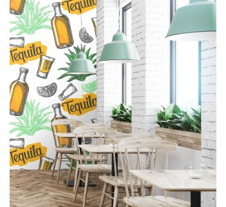 Tequila Bar Removable Wallpaper