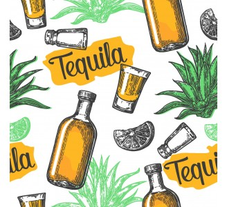 Tequila Bar Removable Wallpaper pattern