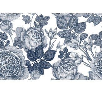 Gray Peony Removable Wallpaper pattern